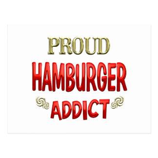 Hamburger-Süchtiger Postkarte