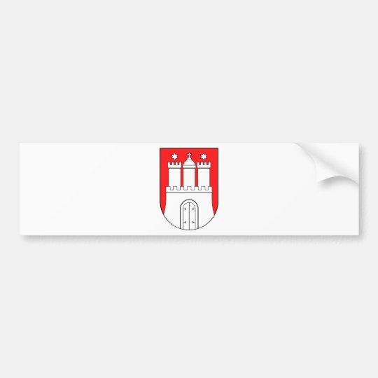 Hamburger Wappen Autoaufkleber