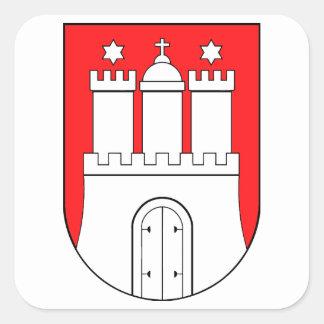 Hamburger Wappen Quadratischer Aufkleber