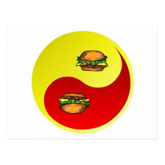Hamburger Yin Yang Postkarte