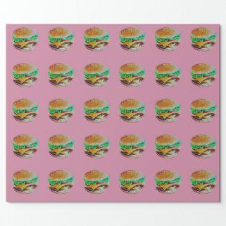 Hamburgerentwurf, ursprüngliche Malerei Geschenkpapier