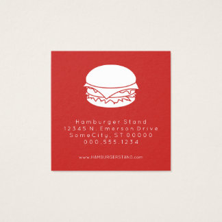 Hamburgerloyalitäts-Briefmarke Quadratische Visitenkarte