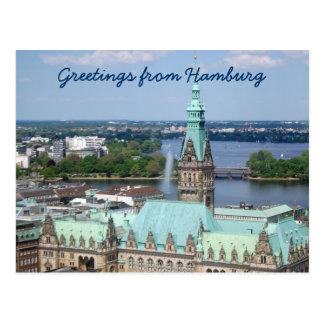 HamburgRathaus Postkarte