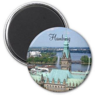 HamburgRathaus Runder Magnet 5,7 Cm