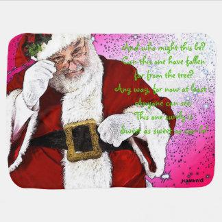 HAMbWG - Baby-Decke - Weihnachtsmann Babydecke