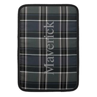 HAMbWG - Computer-Hüllen - schwarzes kariertes Sleeve Fürs MacBook Air