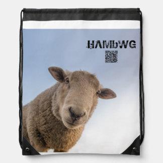 HAMbWG Drawstring-Rucksack - weißes Schaf Turnbeutel
