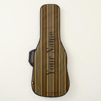 HAMbWG - Gitarren-Hüllen - Gold&Cranberry Streifen Gitarrentasche
