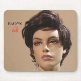 HAMbWG Mannequin-Mausunterlage w qr Code Mousepad