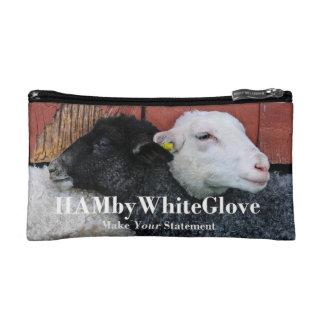 HAMbWG Reise-Taschen - HAMbWG Schwarz-weiße Schafe Makeup-Tasche