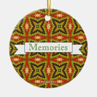HAMbWG - rundes Foto-Verzierungs-Memento Keramik Ornament