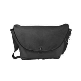 HAMbWG schwarze Boho Entwurfs-Bote-Tasche Kuriertasche