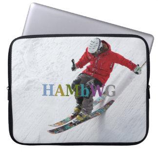HAMbWG Skifahrer - Neopren-Laptop-Hülse - Laptop Sleeve