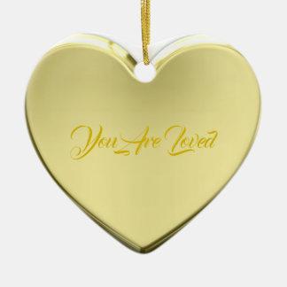 HAMbWG - Verzierung - Herz geformt - Keramik Ornament