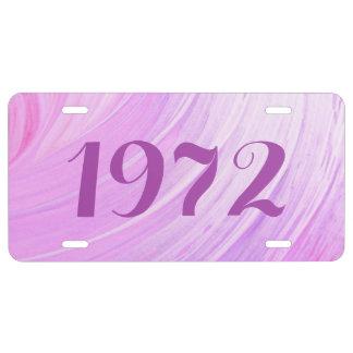 HAMbyWG Eitelkeits-Namen-Kfz-Kennzeichen - rosa US Nummernschild