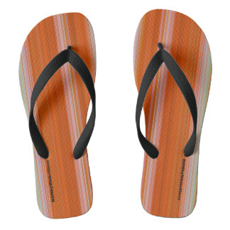 HAMbyWG - Flipflops - orange Steigungs-Streifen
