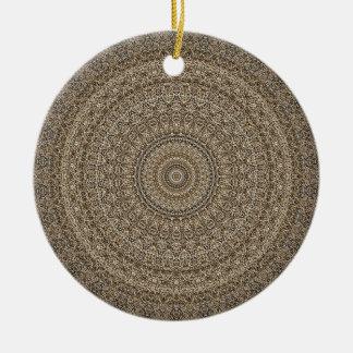 HAMbyWG - Mandala im Tan Keramik Ornament