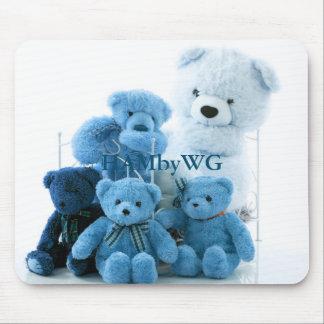 HAMbyWG - Mausunterlage - blaue Teddybären Mousepad