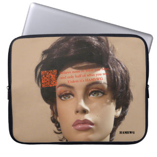 HAMbyWG - Neopren-Laptop-Hülse - Mannequin QR Laptop Sleeve