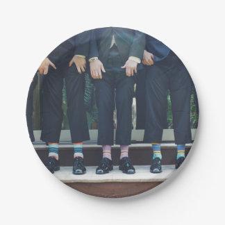 HAMbyWG - Pappteller - Männer in den Socken