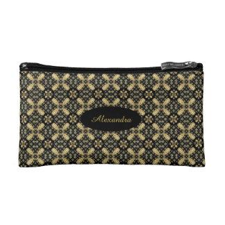 HAMbyWG - Reise-Tasche - Gold u. Schwarzes Makeup-Tasche
