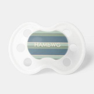 HAMbyWG - Schnuller - aquamariner weiser beige