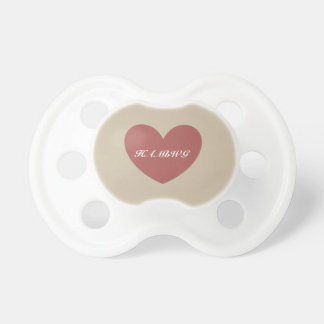 HAMbyWG - Schnuller - wenig Rosen-Herz auf Beige
