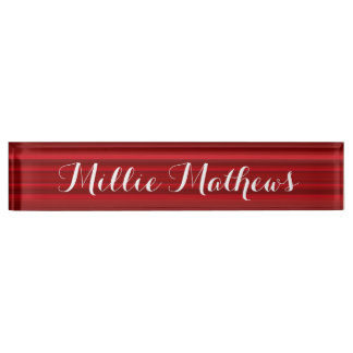 HAMbyWG - Schreibtisch-Namensschild - rote Namensplakette