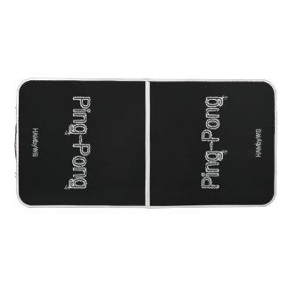 HAMbyWG schwarze/weiße Klingeln-Pong Tabelle Beer Pong Tisch