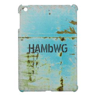 HAMbyWG - schwerer Fall - beunruhigtes Aqua iPad Mini Hülle