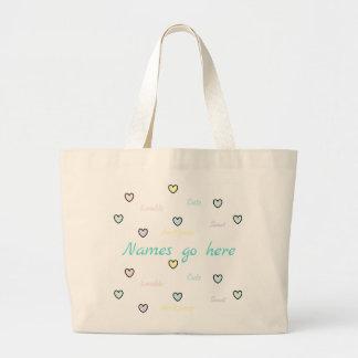 HAMbyWG - Taschen-Tasche - Baby-Herzen Jumbo Stoffbeutel