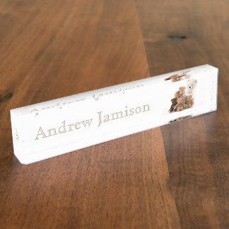 HAMbyWhiteGlove Schreibtisch-Nummernschild - Schreibtischplakette