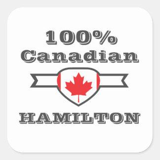 Hamilton 100% quadratischer aufkleber