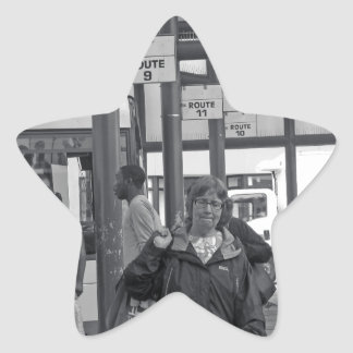 Hamilton-Busbahnhof 02 Stern-Aufkleber