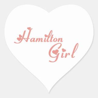 Hamilton-Mädchen Herz-Aufkleber