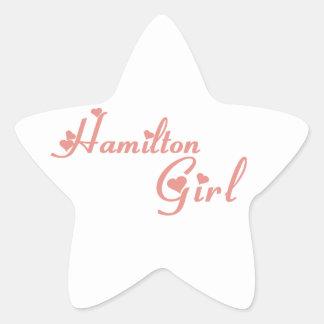 Hamilton-Mädchen Stern-Aufkleber
