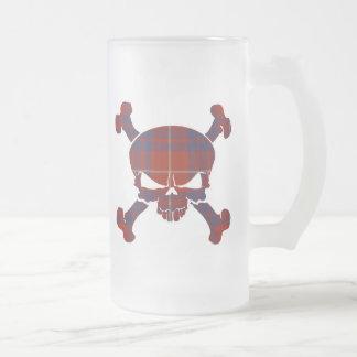 Hamiltontartan-Schädel keine Fahnen-Tasse Mattglas Bierglas