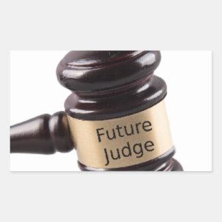 Hammer-Entwurf für strebende Richter und Rechteckiger Aufkleber