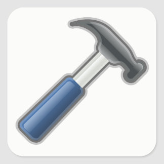 Hammer Quadratischer Aufkleber