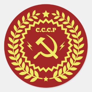 Hammer-u. der Sichel-CCCP Abzeichen-Aufkleber Runder Aufkleber