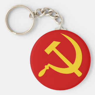 Hammer u. Sichel (gelbes) keychain Schlüsselanhänger