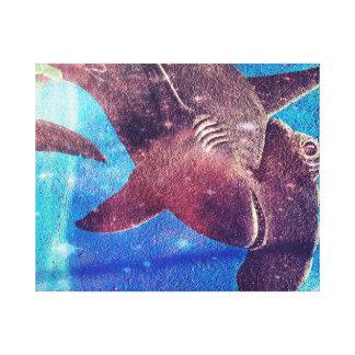 Hammerhai-Haifisch-Malerei Leinwanddruck