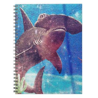 Hammerhai-Haifisch-Malerei Spiral Notizblock