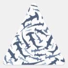 hammerhai Hammerhaihaifischsporttauchen Dreieckiger Aufkleber