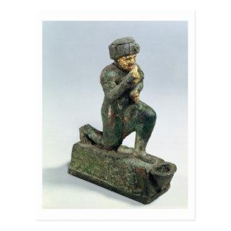 Hammurabi, König von Babylon, betend vor einem Postkarte