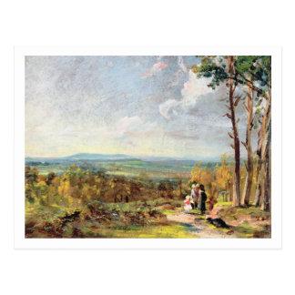 Hampstead Heide, der in Richtung Egge, 1821 blickt Postkarte