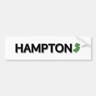 Hampton, New-Jersey Autoaufkleber