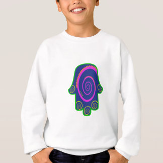 Hamsa bunter Nagel-Wirbel Zazzle.png Sweatshirt