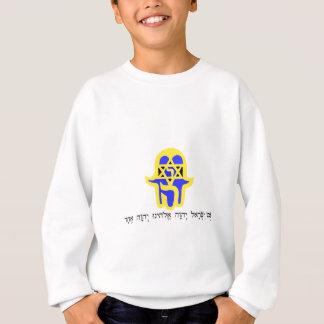 Hamsa Gelb mit Shemah Sweatshirt