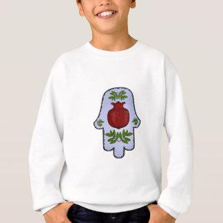Hamsa, Granatapfel, hellblau, Buntglas Zazz Sweatshirt